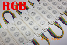 20pcs/lot 5050 White   RGB  3leds white  shell injection led module ,,12V,0.75w, RGB  led module 2 years warranty,led signs
