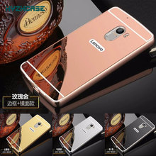 Fashion Rose Gold Silver Black Beauty Mirror Case For Lenovo K4 Note Vibe X3 Lite A7010 5.5 inch A 7010 Shell Back Cover Housing