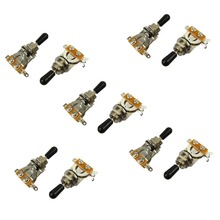 ikn 10pcs Guitar 3 Way Pickup Selector Switch with Black Cap for LP Style Guitar