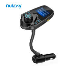 Nulaxy FM Transmitter Car MP3 Audio Player Wireless Bluetooth FM Modulator Handsfree Car Kit USB Car Charger with LCD Display