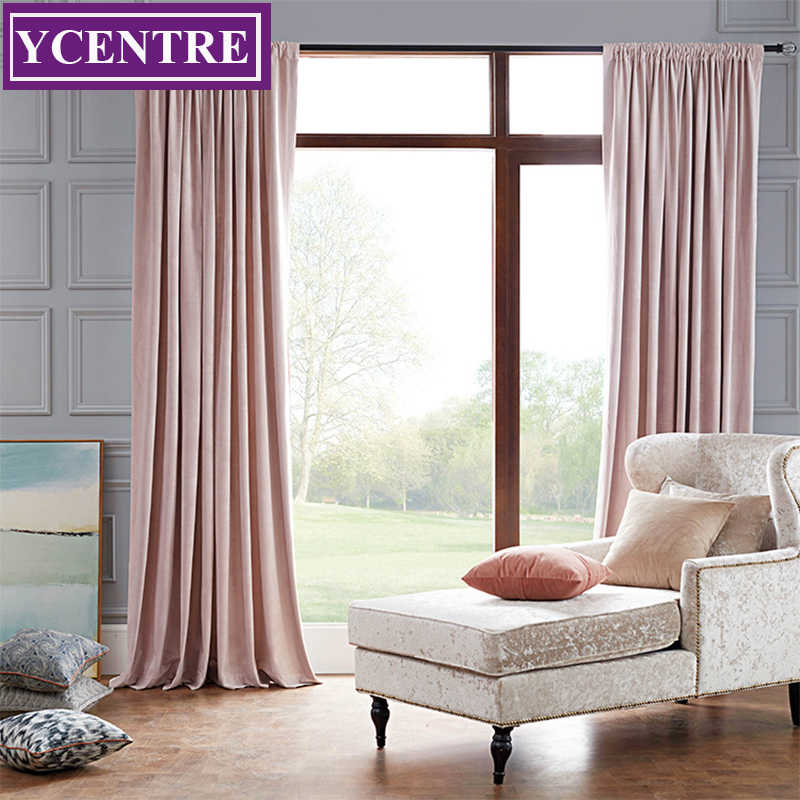 YCENTRE Decorative Window Drapes The Face Velvet Blackout Curtains Super Soft  Modern Curtains/Rideau Room/Bedroom/Livingroom