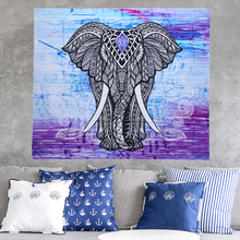 2017 NEW Elephant Shawl Round Mandala Indian Hippie Boho Wall Hanging Beach Throw Towel Mat Blanket with Tassels