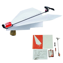 Funny Diecasts Toy Vehicles Power-Up Electric Paper Plane Airplane Conversion Kit Fashion Educational Great(China)