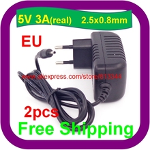 2 pcs Free Shipping 5V 3A 2.5mm power adapter charger for Ainol novo 9 Hero II Spark Firewire quad tablet pc sanei n10 3g