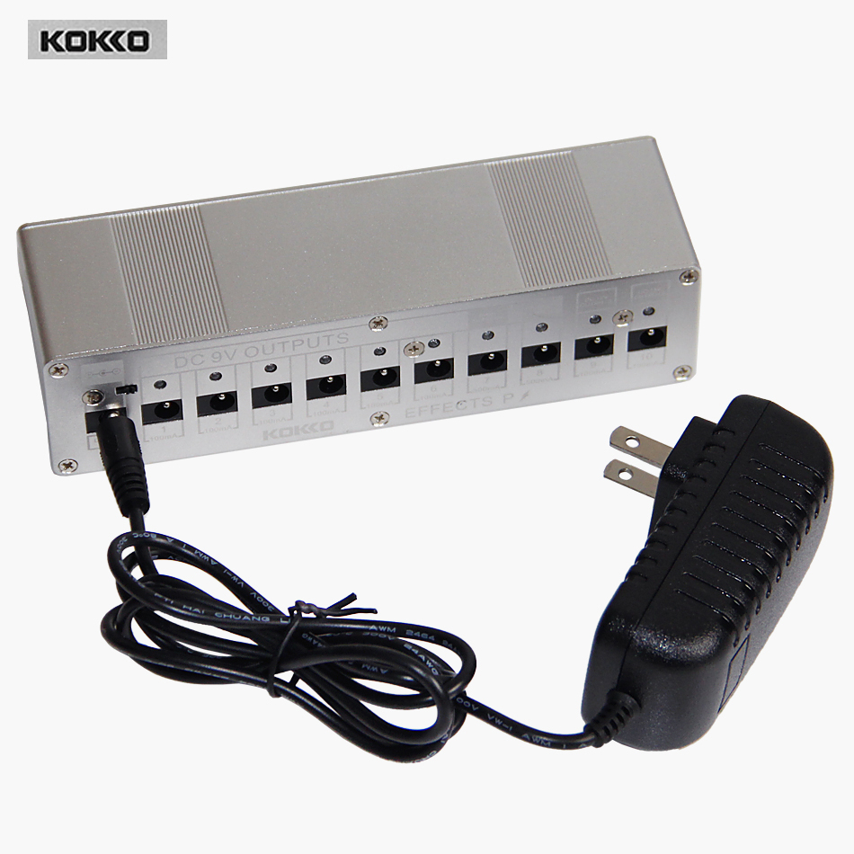 Kokko Guitar Pedal Power Supply Compact Size For DC 9V/12V/18V Guitar Pedal EU/UK/USA Free Shipping<br>