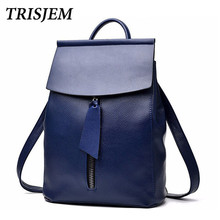backpacks for teenage girls teen school bags fashion women pu leather back pack blue sac a dos femme mochila escolar feminina