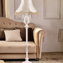 Resin American Country Style Fabric Lampshade Led Floor Lamp E27 110V-220V Modern Floor Lamps for Living Room Floor Lights