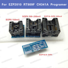 4PCS SOP16 to DIP8 Adapter Wide 300mil SOP8 Socket IC Programmer Adapter Suitable for EZP2010 EZP2013 RT809F CH341A Programmer(China)