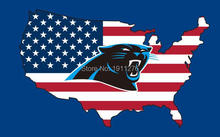 New style 3x5FT Carolina Panthers flag with American banner flag 100D Polyester NFL flag hot sell Carolina Panthers flag(China)