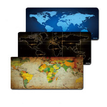 Computer mouse pad with 800x300mm size and edge locking world map printings PC mouse mat smooth soft anti-slip(China)