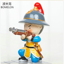 Original Ming Dynasty Camp Anime Action Figures Mini Resin Doll Mobile Phone Holder China Palace Museum official Souvenir Gift