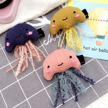 New Jellyfish Modeling Hairpins Handmade cloth children hair accessories Lovely Animal hair clip for girl fashion hair ornaments