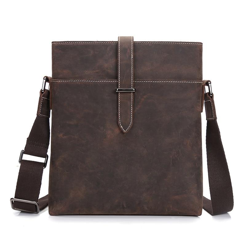 Leather Bag Messenger Bag trend men crazy horse male Bag Mens Shoulder Messenger Bag tide<br><br>Aliexpress