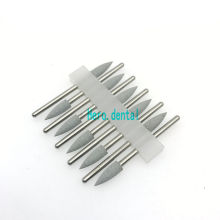 Type 151 Dental Silicone Rubber Resin Base Hidden Denture Polishing Burs 10pcs grey(China)