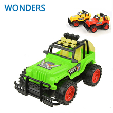 3Colors Omni-directional wheel Diecast Jeep Model Convertible JEEP SUV Car Toys With Light&Sound Collection Gift For Kids(China)