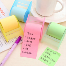 1pcs 7.5x5.5x4.4cm Length 8M Memo Pad Sticky Notes With Adhesive Tape Holder Memo Notepad Bookmark Paper Sticker(China)