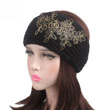 2017 Autumn Winter Handmade Woolen Headband Warm Hair Band Ladies Embroidery Flowers Twig TD-156 Hair Accessories Free Shipping(China)