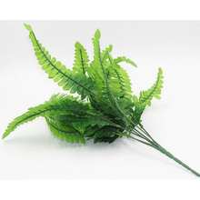 14Pcs Leaf Green Fake Lifelike Plants Floral Decor Artificial Persian Leaves Leaf Grass Flower Wedding Home Garden Decor 6CX774