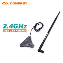 Comfast 2.4G high gain wifi Antenna sma Antenna CF-ANT2410I-SAM 10 dbi Wireless wifi directional Antennas FOR WIFI ROUTER(China)