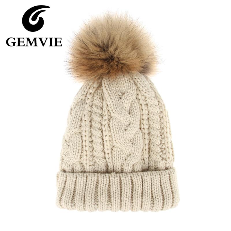 Winter Hat Women Solid Hemming Knitted Hats with Venonat Cotton Thick Warm Skullies Beanies Hat 6 ColorsÎäåæäà è àêñåññóàðû<br><br><br>Aliexpress