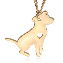 Pet Rescue Animal Lovers Jewelry Necklace Puppy Heart Dog Breed Pet Memorial Charms Choker Gold Silver Plated Pendants For Women