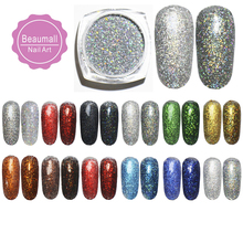 2g/pot, 0.2mm (1/128 008) Holographic Acrylic Laser Glitters Powder Dusts Chrome Pigments For Nail ,Tattoo Art Decorations(China)