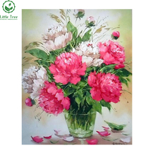 China Online Shopping 3D Diamond Painting Manufacturer Various size digital Flower Diamond Oil Painting Home Decor(China)