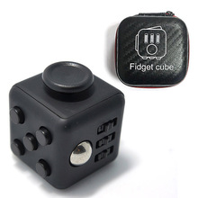 1Pcs Fidget Cube Original + 1pcs Zipper Box lot for adult 2017 New  Fidget Cube stress set Fidget toys oyuncak Birthday gift