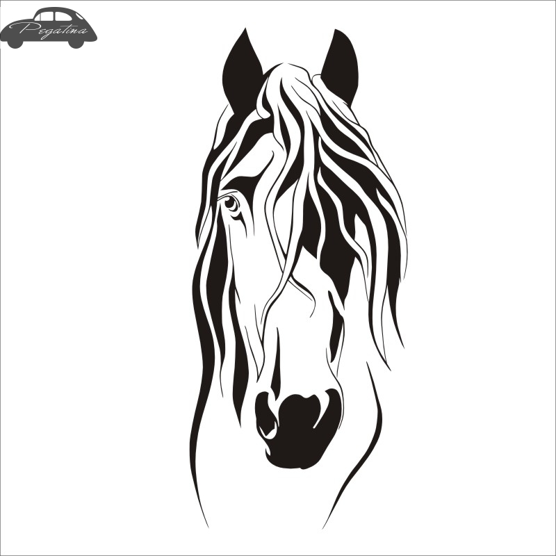 Horse Decal Sticker Car Posters Vinyl Wall Decals Pegatina Quadro Parede Decor Mural Sticker 719