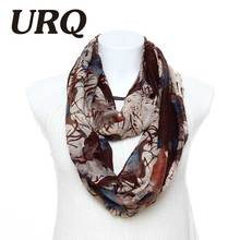 fashion tube loop Ring scarf for woman Infinity scarves art Style New Ink Graffiti Printed lady scarves 2016 new arrival