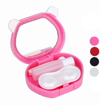 Contact lens storage box Cute Cartoon Panda Candy Color Contact Lens Small Box Case For Eyes Care Kit Storage supplies 2017