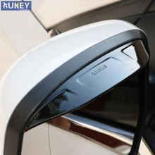 Fit For Ford Focus Mk3 Side Wing Door Mirror Rain Guard Visor Shade Shield Rear View Cover Trim 2012 2013 2014 2015 2016 2017(China)