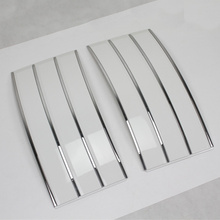 White with silver trims ABS side mesh vent grille grill fender Suitable FOR Land Rover Range Rover Vogue 2013 2014 2015 2016