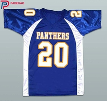 Embroidered Logo Friday Night Lights Brian 'Smash' Williams 20 Dillon High School jersey Panthers american football Jerseys(China)