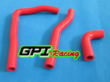 GPI silicone radiator  hose FOR KAWASAKI KX65 KX 65 2000-2012 2001 2002 2003 2004 2005 2006 2007 2008 2009 2010 2011 RED