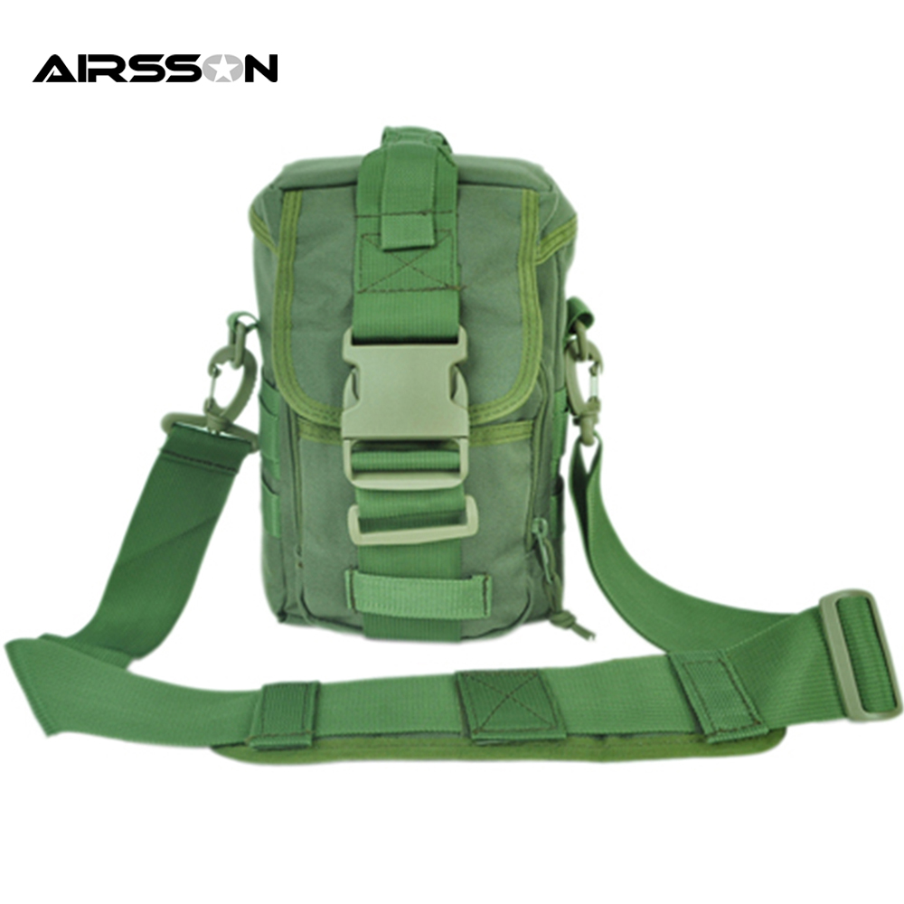 Outdoor Tactical Shoulder Bag With Detachable Cross Body Belt Molle Hiking Camping Hunting Pack Military Assault First Aid Bags <br>