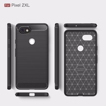 For Google Pixel XL 2 Silicone Soft TPU Brushed Carbon Fiber Texture Case for Google Pixel XL 2 Phone Protective Back Cover