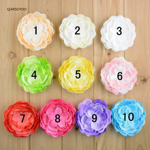 Handmade Knitting Fabric Peony Flower Bud 9CM Multi-Layers DIY Flower Hair Accssories FOR DIY Floral Brooches Hair Clip Headwear(China)