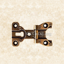 Hotsale 5PCS 3inch Retro Vintage Style Furniture Hinges European Antique Door Hinges Cupboard Cabinet Bronze Hinges(China)