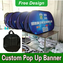 Free Design Free Shipping Horizontal A Frame Banner Pop Up Signs Pop Up Sideline Banners(China)