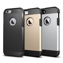 Tough Armor Dual Layer Hybrid Phone Cases for iPhone 6 6s Plus Cover Case 5s 5 se Coque 7 Plus Fundas Silicone Apple Accessories(China)