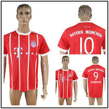 Camiseta de futbol 17 18 men home away red grey white soccer Jersey bayErned muNiched shirt free shipping ds CRRW2