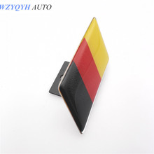 Germany Flag Car Front Grill Emblem Sticker Styling Grille Badge VW Tiguan Golf Jetta polo audi a3 a4 a6 q3 q5 - WZYQYH&AUTO CHENYIWEI Store store