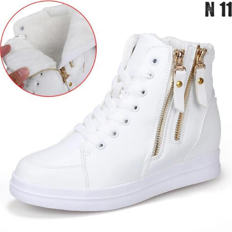 New 2017 Fashion Women Winter Snow Boots Plush Ankle Boot High Top Increasing Boots Pu Womens Boots Casual Botas Ankle Boots<br><br>Aliexpress