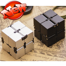 New Fashion Infinity Cube High Quality Fidget Cube Anti Stress Magic Finger spinners Hand Out Door Game Toys Metal Adult ADHD