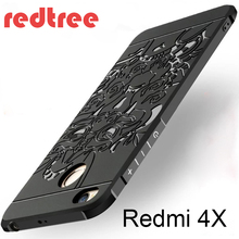 Xiaomi Redmi 4X case Luxury Hybrid Blade Plating dragon frosted Protective back cover for xiaomi redmi4x 4x phone shell(China)
