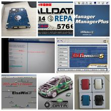 Alldata and mitchell software 2017 NEWEST Auto Repair Software All data 10.53+Mitchell+Vivid workshop+Elsawin 50in1 with 1TB HDD