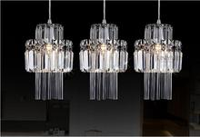 1/3 heads lamps pendant lamp LED art living room bedroom study Lamp pendant lights porch Crystal combination lamps ZAG