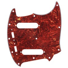Yibuy Brown Tortoise Shell 4ply Pickguard Scratch Plate for Mustang Guitar