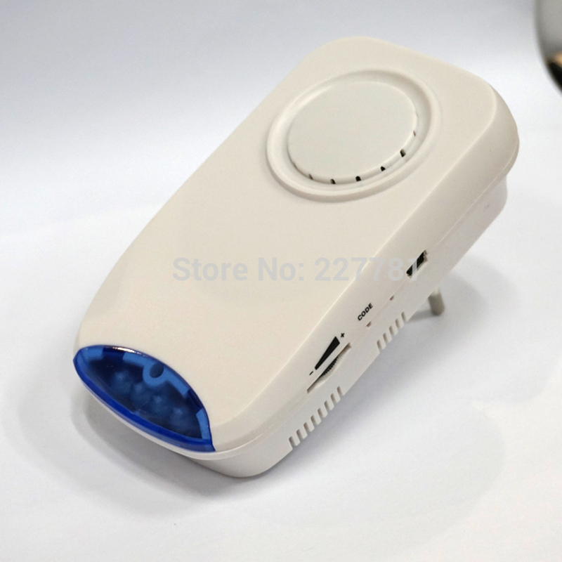 Wireless Flashing Siren Strob Shut Horn Alarm System 110dB Blue Light Siren Volume Adjustable 110/220V DC<br>